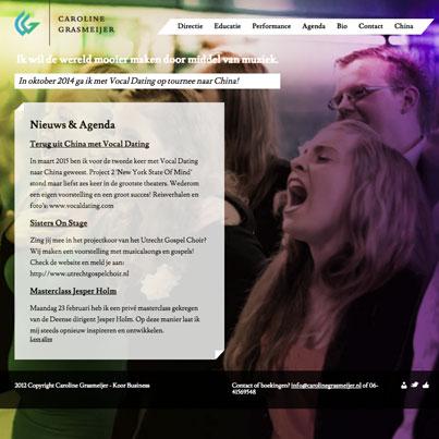 Caroline Grasmeijer, een website voor muzikanten