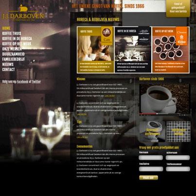 Schetsen voor koffiespecialist Darboven