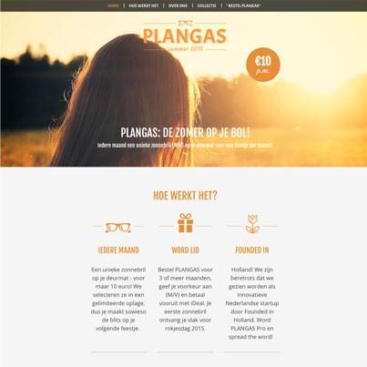 PLANGAS – webshop voor zonnebrillen