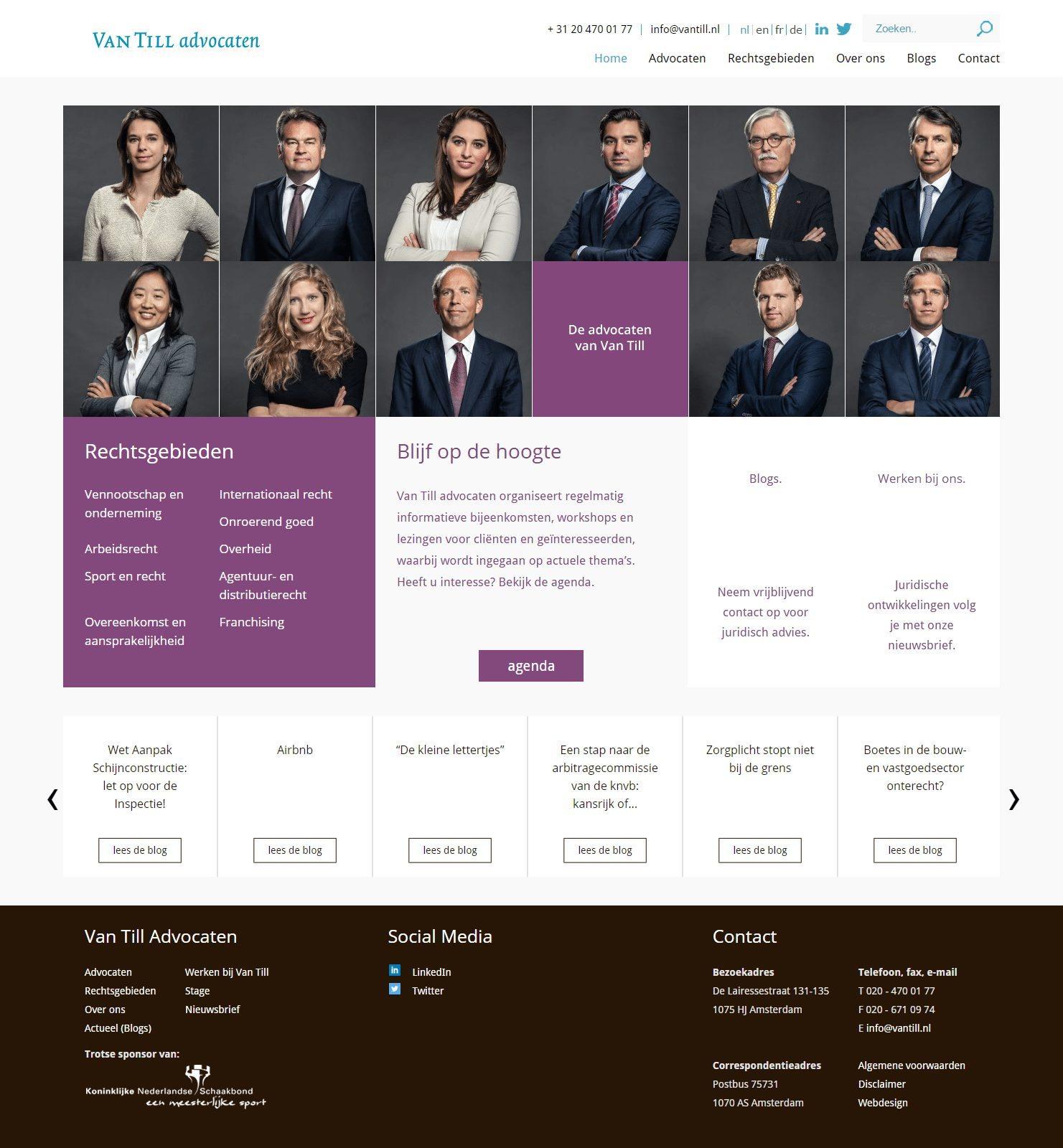 Van Till advocaten Juridisch maatwerk vanuit Amsterdam
