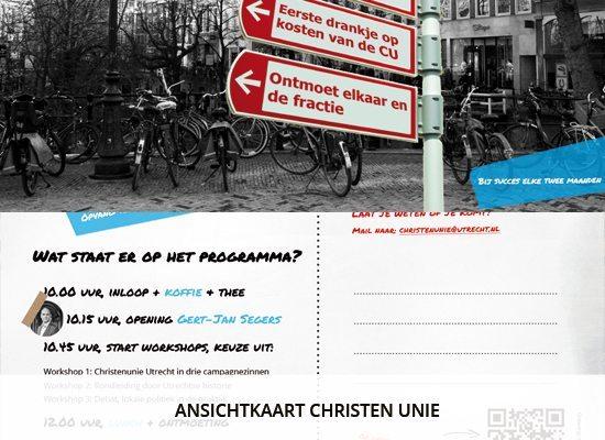 Grafisch ontwerp: Ansichtkaart Christen Unie