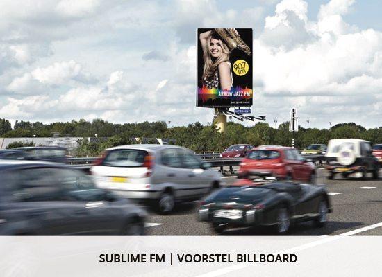 Grafisch ontwerp: sublime fm Billboard presentatie