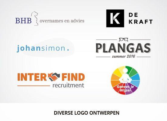 Grafisch ontwerp: Voorbeelden ontworpen logo's