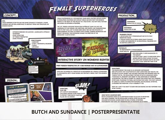 Grafisch ontwerp: poster presentatie Butch and Sundance