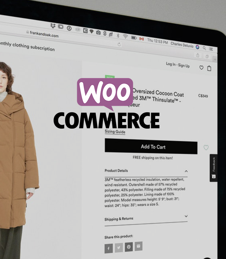 Webwinkel in Woocommerce